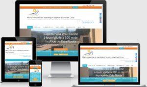 Site vitrine & Réservation en ligne corsehomeholidays.com